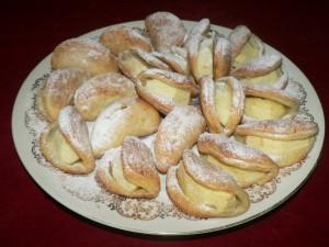 muszelki z ciasta półfrancuskiego