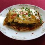 lasagne z warzywami pod beszamelem