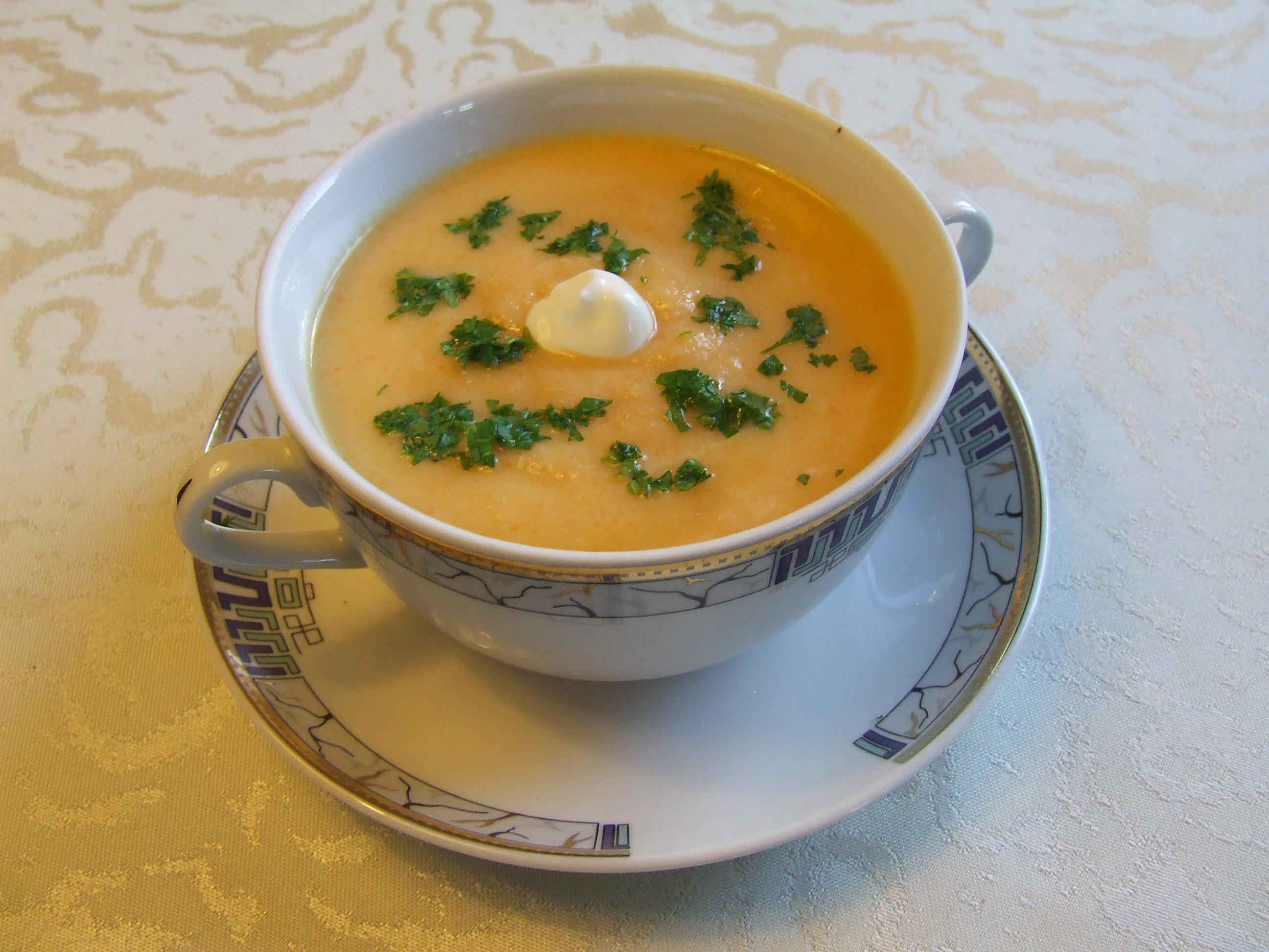 zupa krem z selera i marchewki