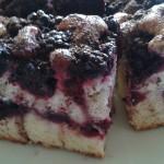 ciasto jogurtowe z jeżynami
