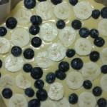 ciasto jogurtowe z borówkami i bananem